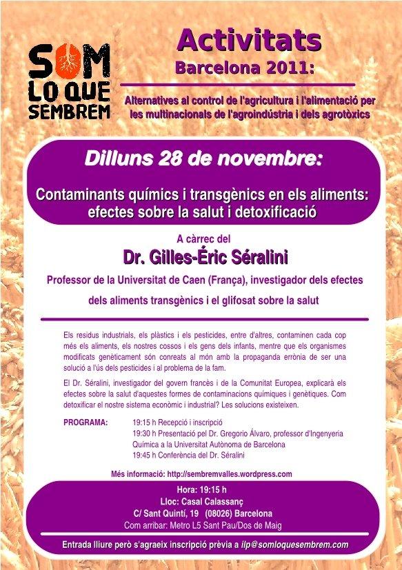 Conférence du Pr SERALINI à Barcelone Nov. 2011